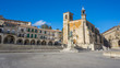 Wide view of Plaza Mayor at Trujillo. Spain