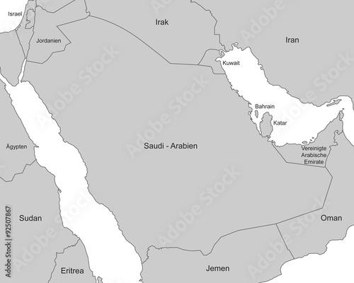 Naher Osten Karte Ohne Beschriftung.Saudi Arabien Karte In Grau Mit Beschriftung Kaufen Sie