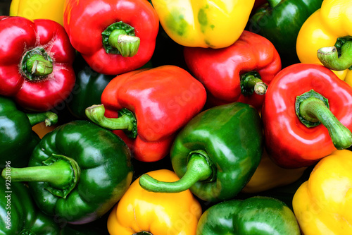 Carta da parati Colorful sweet bell peppers