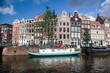 Canal Scene on Prinsengracht in Amsterdam