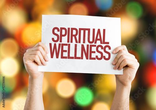 Fotografie, Obraz  Spiritual Wellness placard with bokeh background