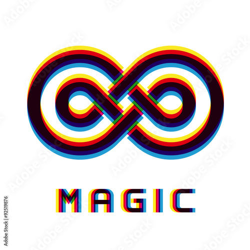 Photo  vector magic eternity distortion blur emblem
