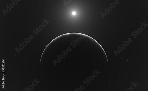 Fototapeta Moon or planet and stars obraz na płótnie