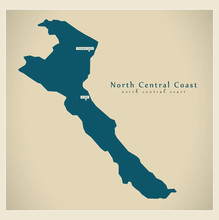 Modern Map - North Central Coast VN
