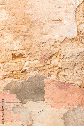 Wall Murals Old dirty textured wall Kaputte Hausmauer