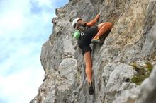 Klettern Frei An Steilem Fels