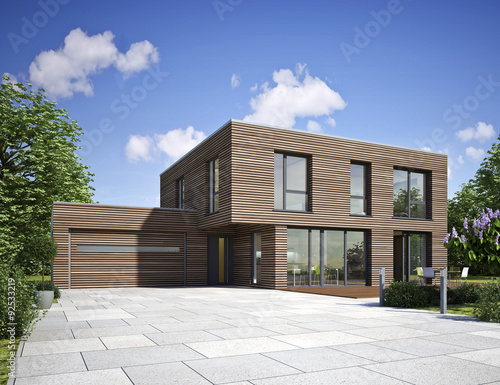 Haus Modern Holz Buy This Stock Illustration And Explore Similar