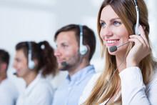 Smiling Customer Service Repre...