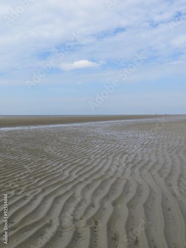 Spoed Foto op Canvas Noordzee Nordsee bei Ebbe