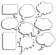 Sketchy Comic Speech Bubble