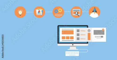 Fotografie, Obraz  Web design / web development - e-business banner