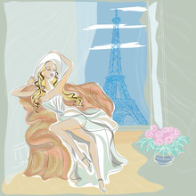 Fashion Girl In Paris Hotel Ne...