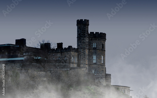Foto op Aluminium Kasteel Old castle in Edinburgh