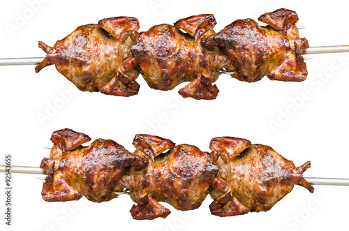 Valokuva  Roast chicken isolate on white background