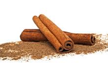 Cinnamon Sticks And Powder On ...