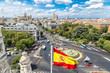Leinwandbild Motiv Cibeles fountain at Plaza de Cibeles in Madrid