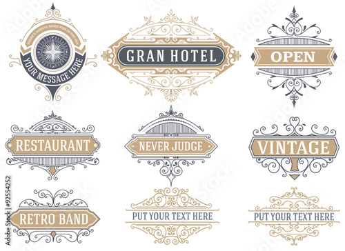 Obraz 9 Labels and banners. Vector - fototapety do salonu