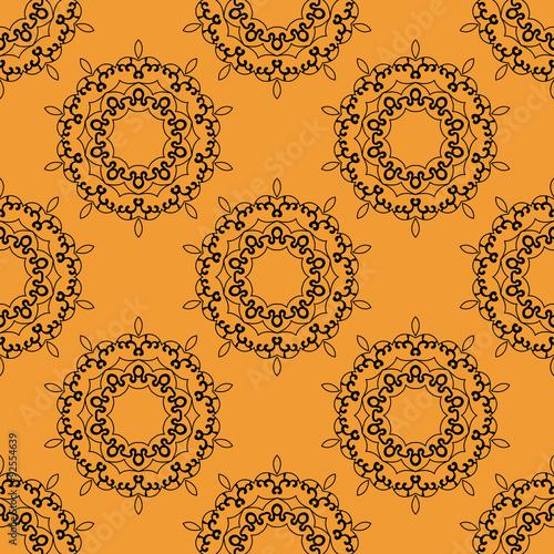 orientalne-ornamenty-na-pomaranczowym-tle