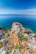Beautiful coast and Adriatic Sea with Transparent Blue Water near Senj, Croatia