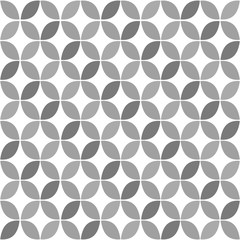 Panel Szklany Grey Geometric Retro Seamless Pattern