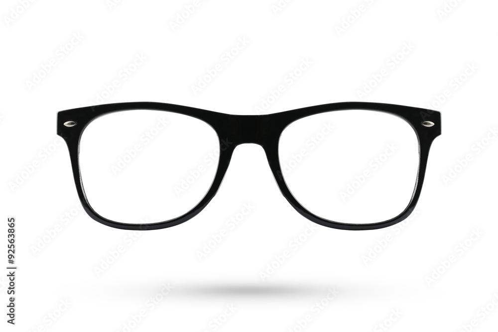 Fototapety, obrazy: Fashion glasses style plastic-framed isolated on white backgroun