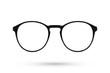 Leinwanddruck Bild Fashion glasses style plastic-framed isolated on white backgroun