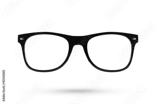 Fashion glasses style plastic-framed isolated on white backgroun