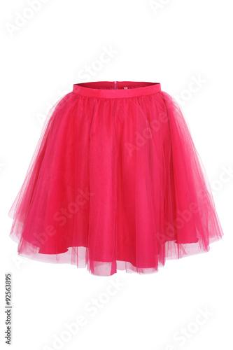 pink princess skirt on white background
