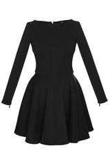 black dress on white background