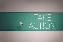 Take Action Text On Wall