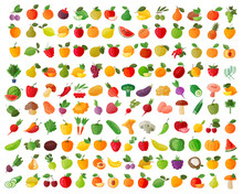 Fruit And Vegetables Color Ico...