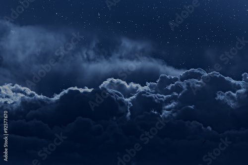 Poster Night Cloudy night sky
