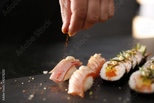 Foto op Aluminium Sushi bar Sushi menu