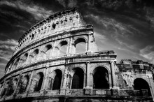Colosseum In Rome, Italy. Amph...