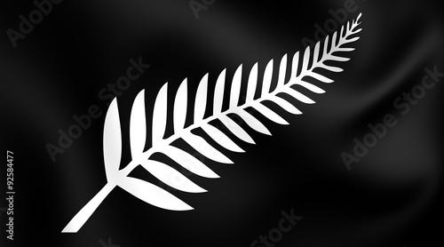 Silver Fern Flag, New Zealand. Canvas-taulu