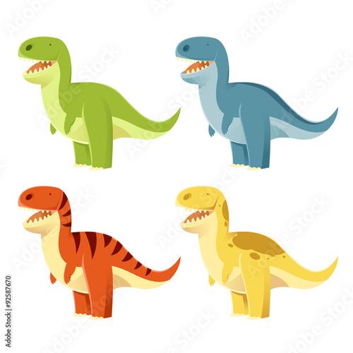 Photo  Set of t-rex
