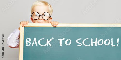 Fotografie, Obraz Back to school! auf einer Tafel