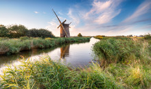 Windmill On The Norfolk Broads