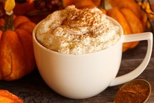 Pumpkin Spice Latte Close Up