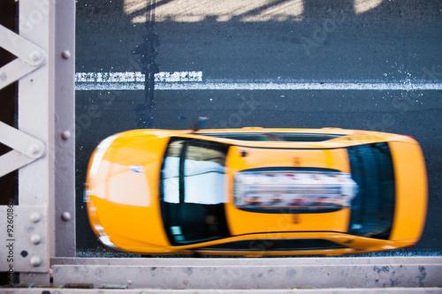 Foto op Plexiglas New York TAXI Yellow cab on streets of New York City