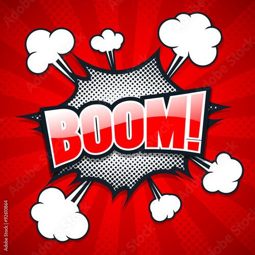 Fotografie, Obraz  Comic Speech Bubble, Boom, Vector illustration