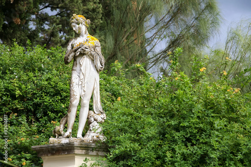 Garden Sculptures At The Achilleion Palace On The Island Of Corfu