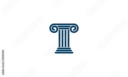 Fotografía  T pillar logo concept