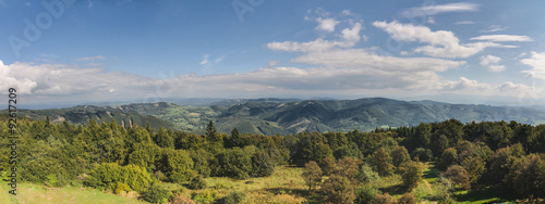 Panorama of amazing summer mountains countryside #92617209