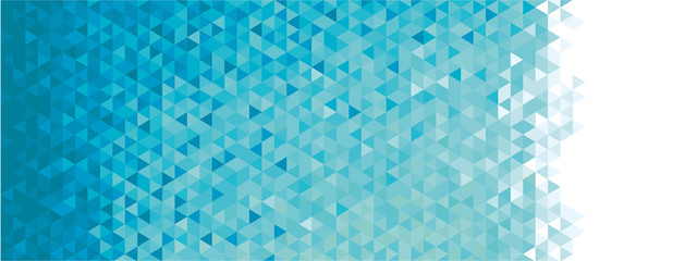 Abstract geometric banner
