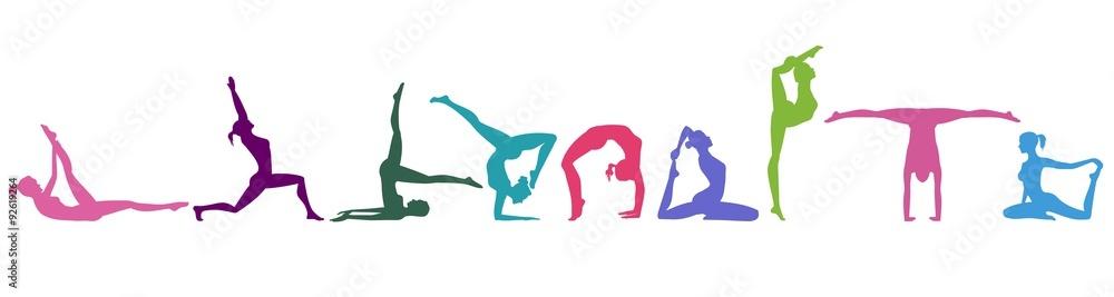 Fototapety, obrazy: gymnastic movements
