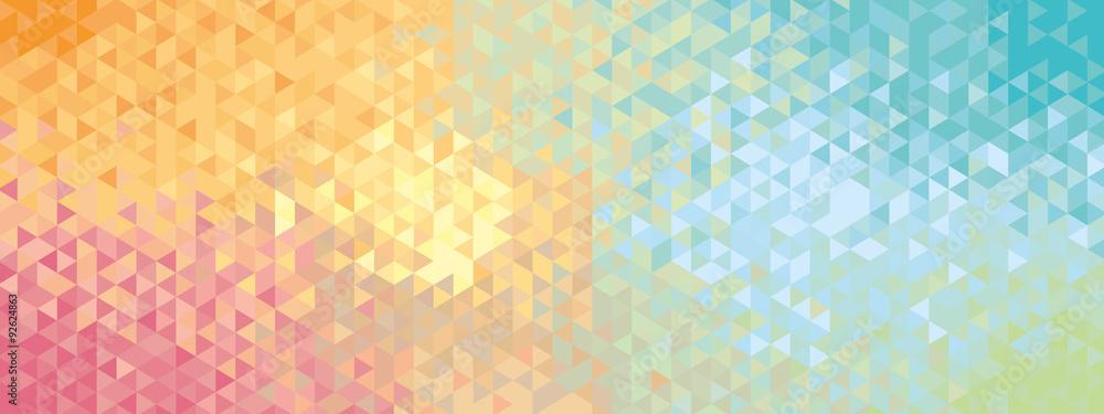 Fototapeta Abstract geometric banner