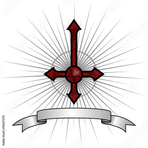 Fotomural Satanic Cross