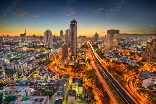 Spoed Foto op Canvas Bangkok Bangkok Skyline