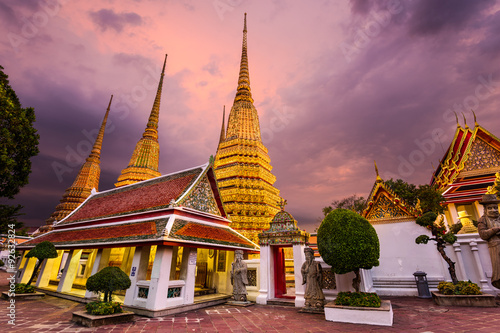 Wall Murals Temple Wat Pho in Bangkok